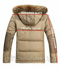 Зимняя мужская куртка M, L, XL, XXL, холофайбер. Молодежная курточка Темно-зеленый, фото 2
