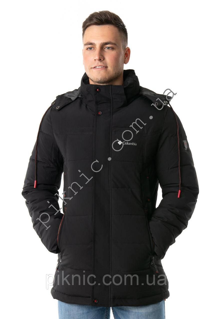 Зимняя мужская куртка M, L, XL, XXL, холофайбер. Молодежная курточка Темно-зеленый