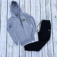 Спортивный костюм утепленный KENZO black-grey мужской / зимний, фото 1
