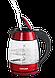 Электрочайник стеклянный Concept RK-4053 красный Чехия, фото 2
