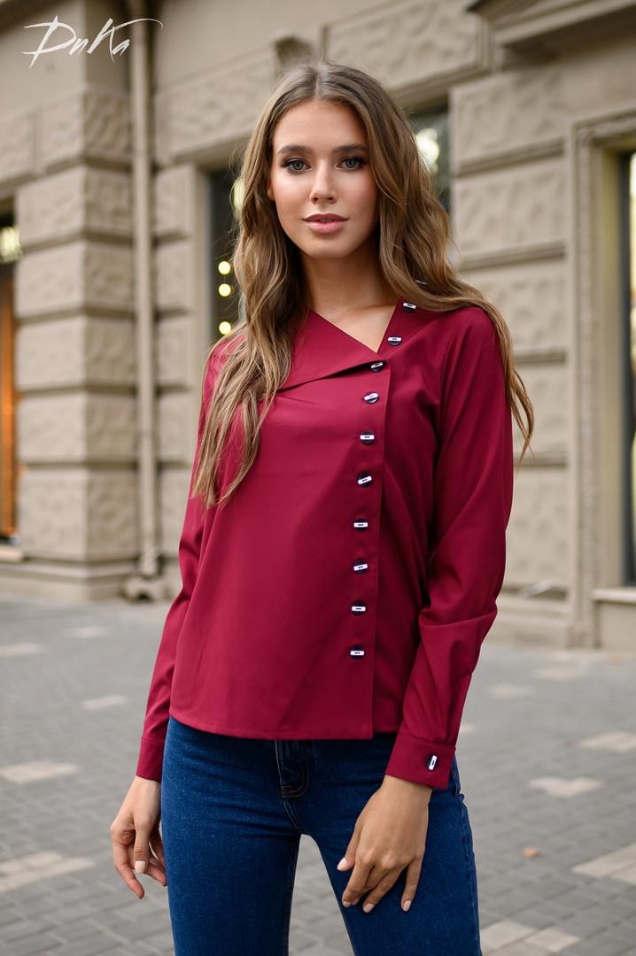 Женская стильная рубашка  ДГд41327 (норма / бат)