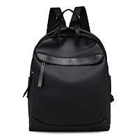 Женский стильный рюкзак черный из ткани