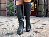 Cапоги женские зимние кожаные (Код: 1547а)