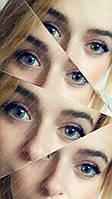 """Натуральные серые линзы """"Айс грей"""" с диоптриями от -1.00 до -7.00, шаг 0.5"""
