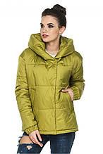 Красивая демисезонная куртка Лайма зеленый (44-54)
