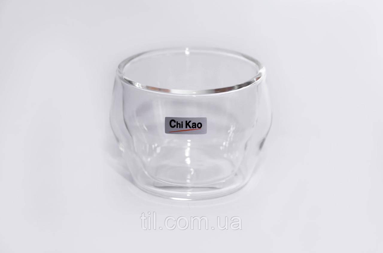 """Стеклянный стакан с двойным стеклом""""CHI KAO"""" 150мл."""