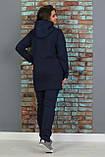 Теплый спортивный костюм женский Трехнитка на флисе Размер 48 50 52 54 56 58, фото 2
