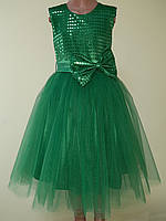 Святкова дитяча сукня «Блиск», зелена