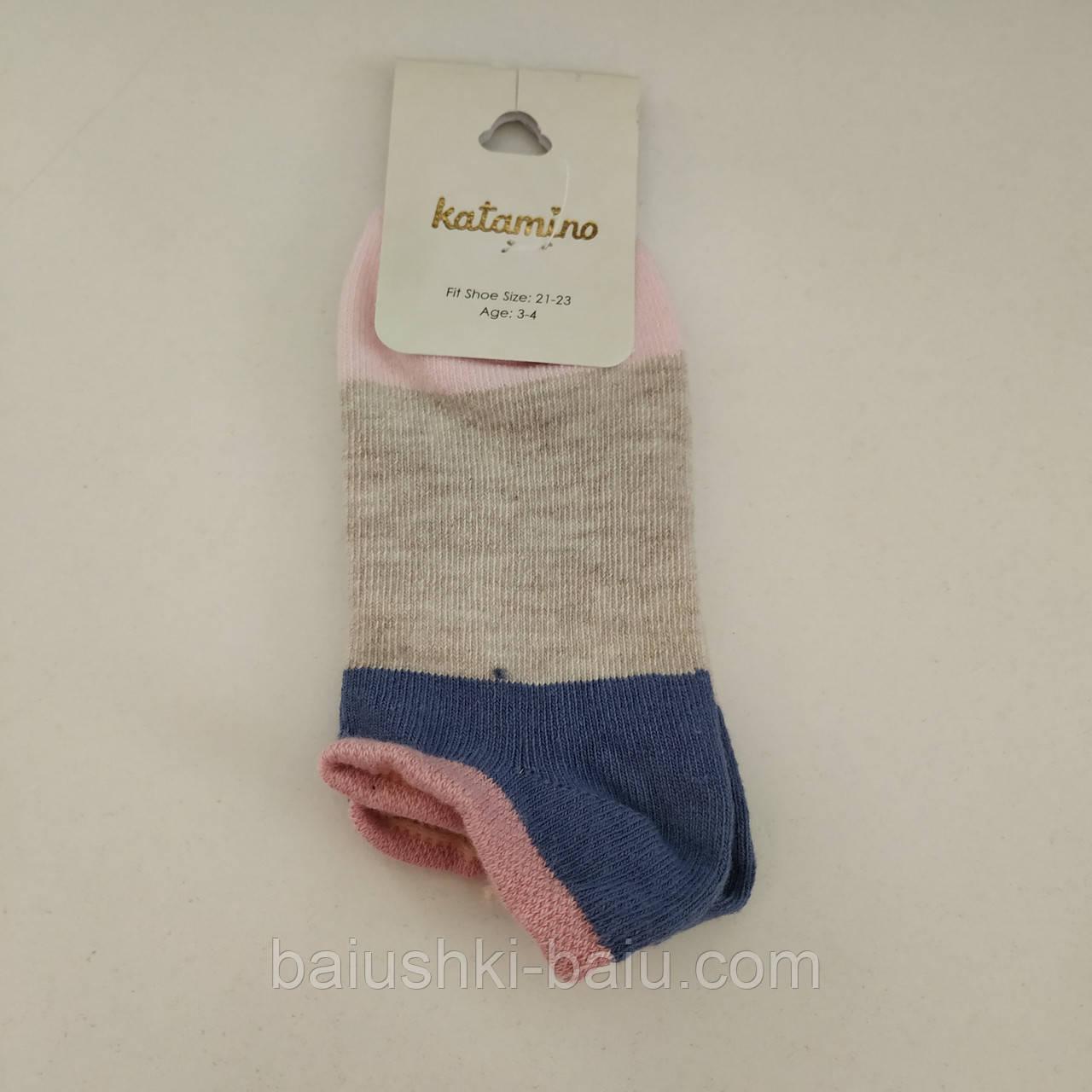 Детские короткие носки для девочки, р. 3-4 года