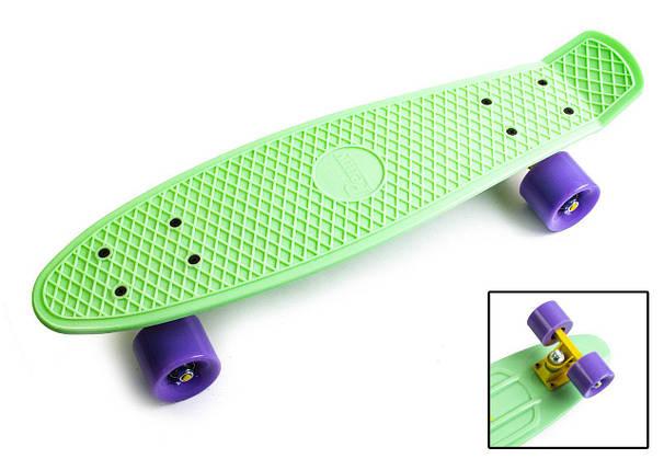 """Скейт """"Penny Board"""" """"PASTEL SERIES"""" М'ятний колір. Матові колеса, фото 2"""