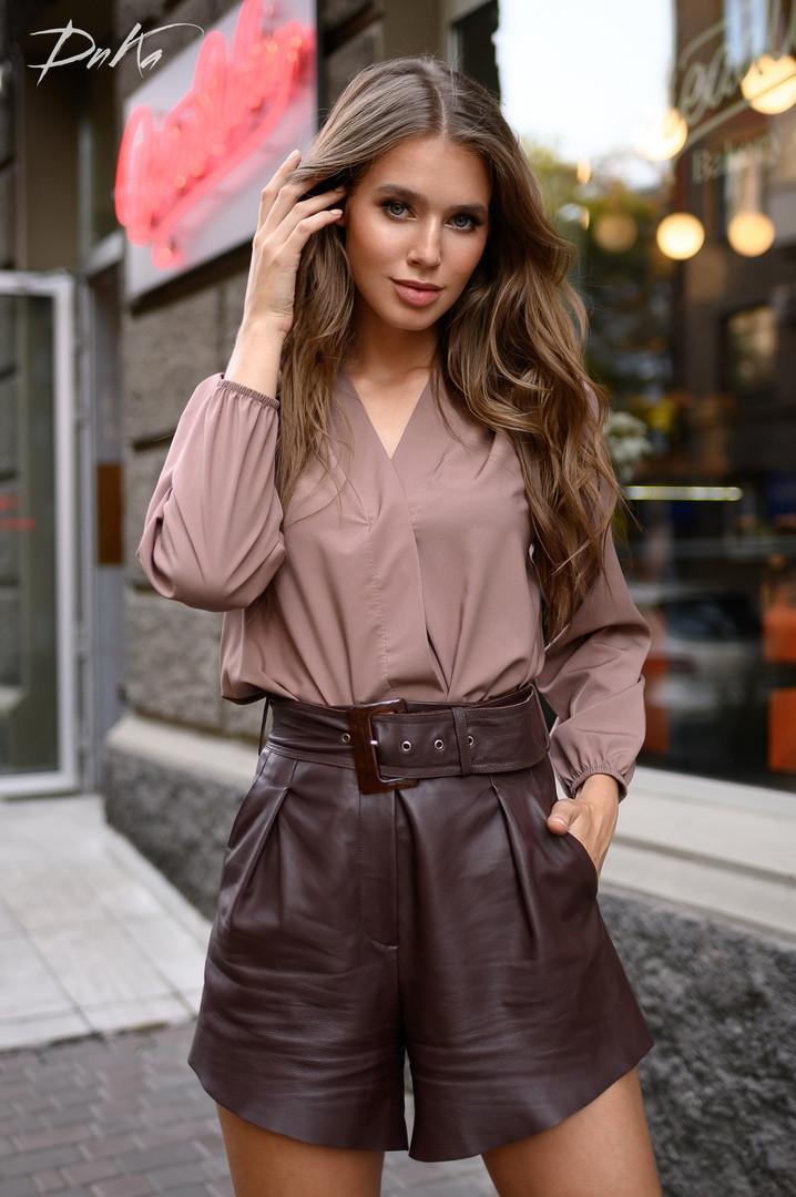 Женская модная блузка  ДГат41323 (норма / бат)