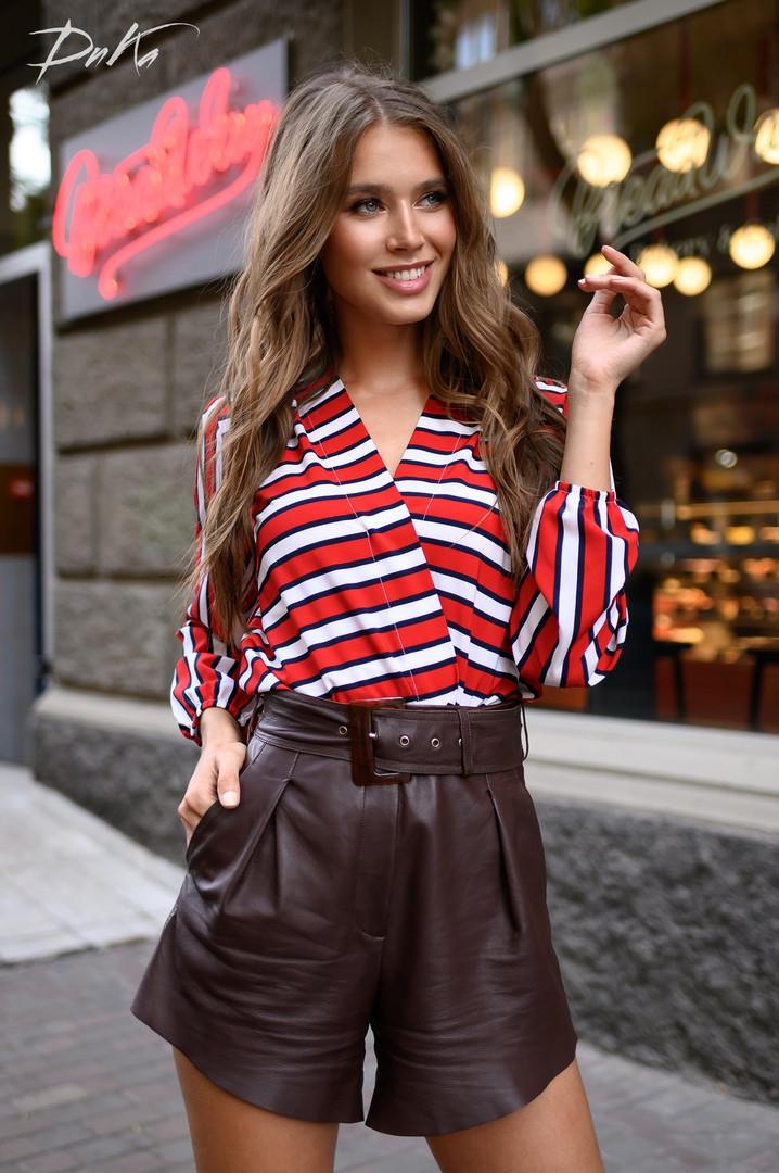 Женская модная блузка  ДГат41323.1 (норма / бат)