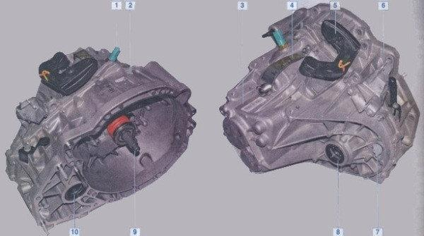 Коробка передач (сальники півосей первинного валу підшипники в коробку)