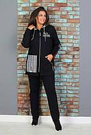 Теплый спортивный костюм женский Трехнитка на флисе Размер 48 50 52 54 56, фото 1