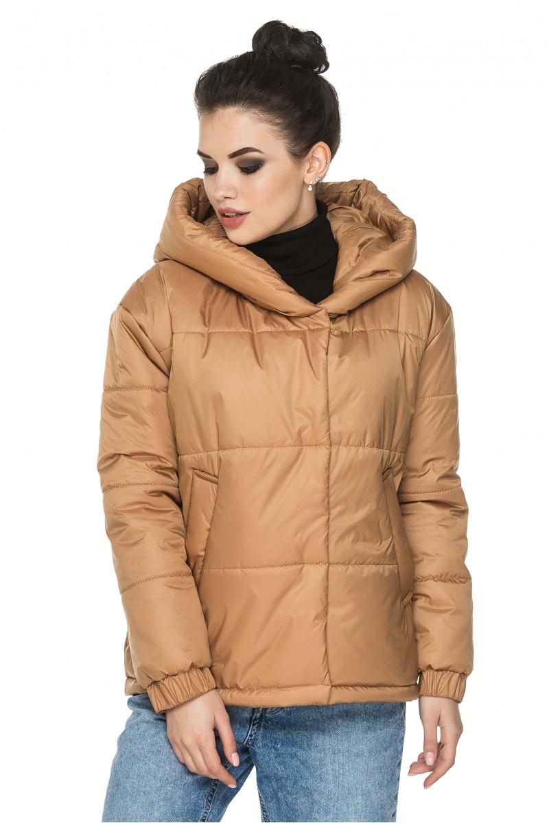Стильная демисезонная куртка Лайма песочный (44-54)