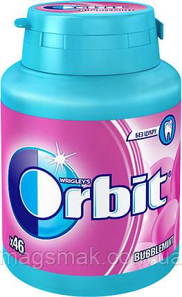 Жевательная резинка Orbit Bubblemint без сахара в бутылке 46 подушечек, фото 2