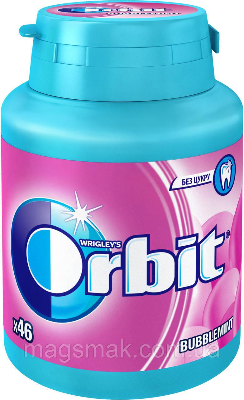 Жевательная резинка Orbit Bubblemint без сахара в бутылке 46 подушечек