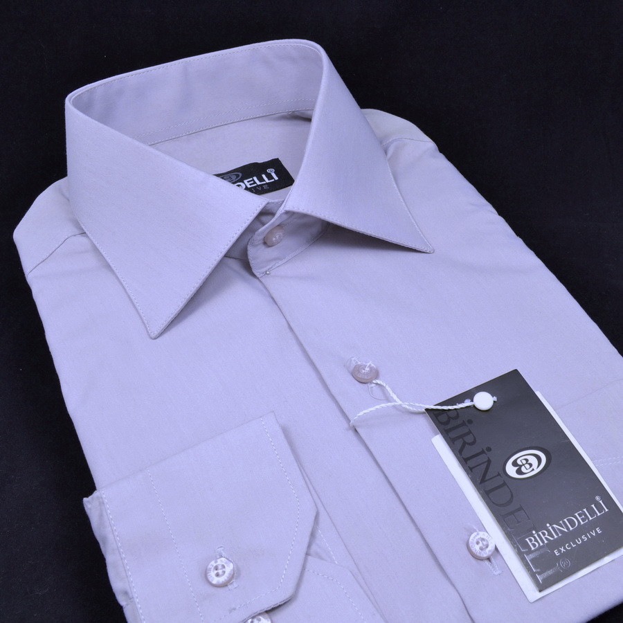 Сорочка чоловіча, прямого покрою з довгим рукавом Birindelli 512155 80% бавовна 20% поліестер M(Р)