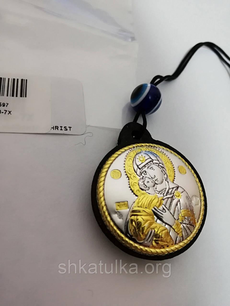 Ікона Богородиця Володимирська брелок на шнурку