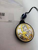 Ікона Богородиця Володимирська брелок на шнурку, фото 1