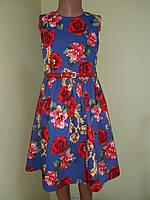 Детское платье из коттона «Розочка», размер_122, фото 1
