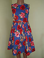 Детское платье из коттона «Розочка», размер_122