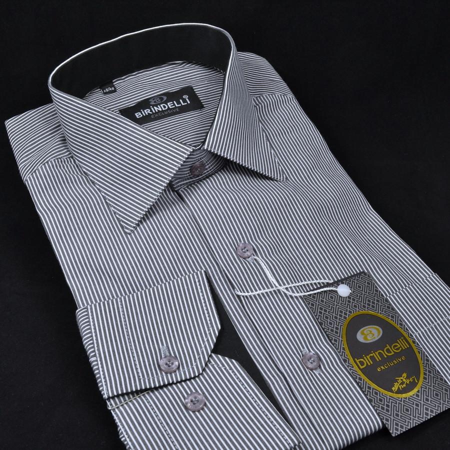 Сорочка чоловіча, прямого крою з довгим рукавом Birindelli 512187 80% бавовна 20% поліестер M(Р)