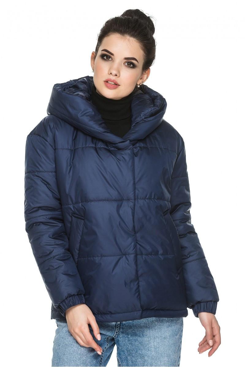 Молодежная демисезонная куртка Лайма синий (44-54)