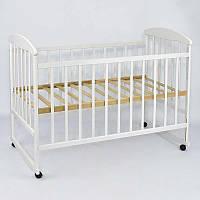 Детская кроватка деревянная ТМ Наталка Белая