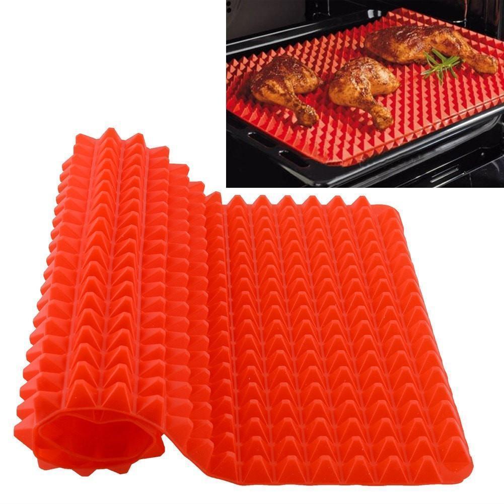 """Антипригарный силиконовый коврик для готовки """"Пирамидка"""" Pyramid Pan Red (3223)"""