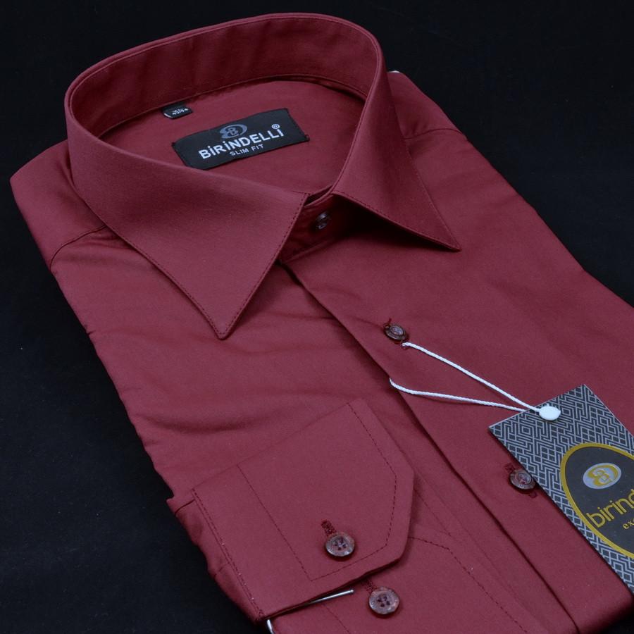 Сорочка чоловіча, приталена (Slim Fit), з довгим рукавом Birindelli 512356 80% бавовна 20% поліестер XL(Р)
