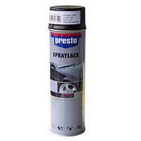Акриловая аэрозольная спрей-краска Presto черный мат  500мл