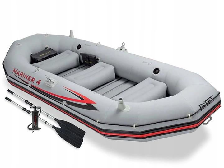 Надувная лодка четырехместная Intex Mariner 4 - 328х145х48 см