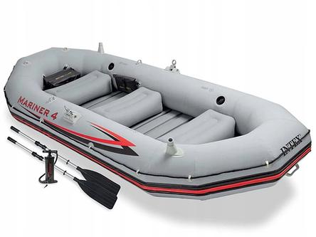 Надувная лодка четырехместная Intex Mariner 4 - 328х145х48 см, фото 2