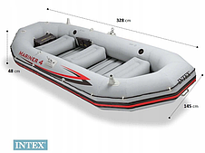 Надувная лодка четырехместная Intex Mariner 4 - 328х145х48 см, фото 3