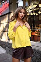 Женская модная рубашка  ДГат41328 (норма / бат), фото 1