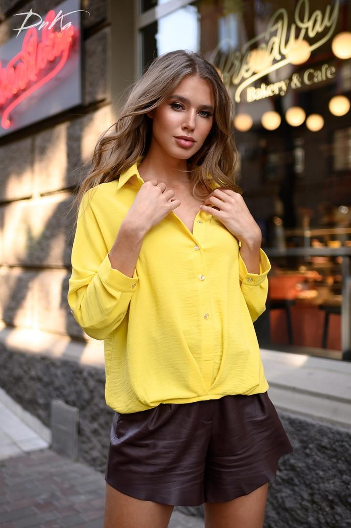 Женская модная рубашка  ДГат41328 (норма / бат)