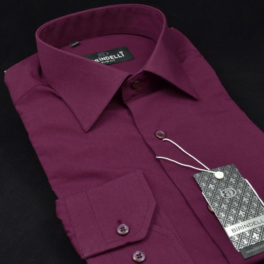 Сорочка чоловіча, приталена (Slim Fit), з довгим рукавом Birindelli 512368 80% бавовна 20% поліестер L(Р)