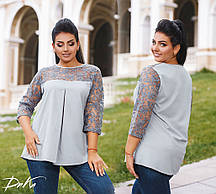 Женская модная блузка  ДГр1591 (бат)