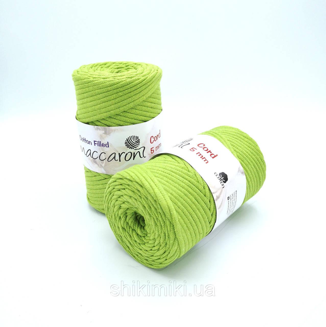 Трикотажный хлопковый шнур Cotton Filled 5 мм, цвет Салатовый