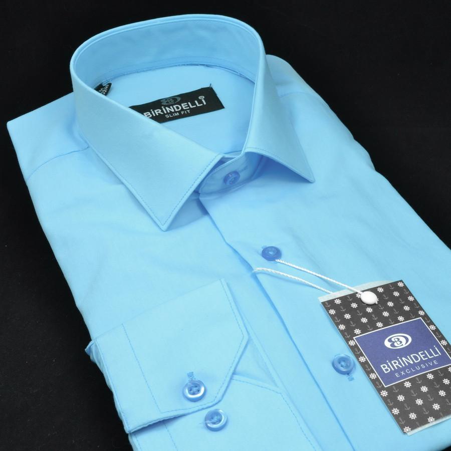 Сорочка чоловіча, приталена (Slim Fit), з довгим рукавом Birindelli 512370 80% бавовна 20% поліестер L(Р)
