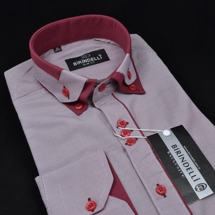 Сорочка чоловіча, приталена (Slim Fit), з довгим рукавом Birindelli 512376 80% бавовна 20% поліестер M(Р)