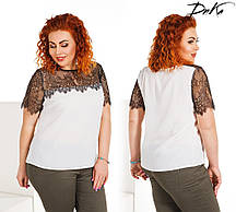 Женская модная блузка  ДГр1573 (бат)