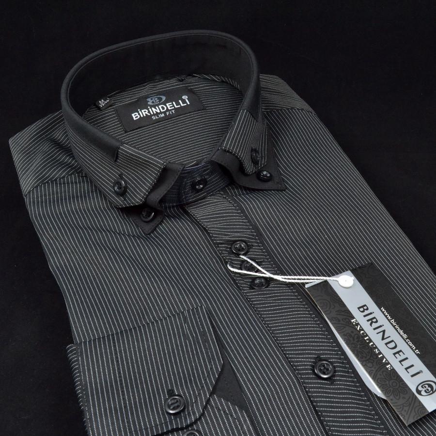 Сорочка чоловіча, приталена (Slim Fit), з довгим рукавом Birindelli 512385 80% бавовна 20% поліестер M(Р)