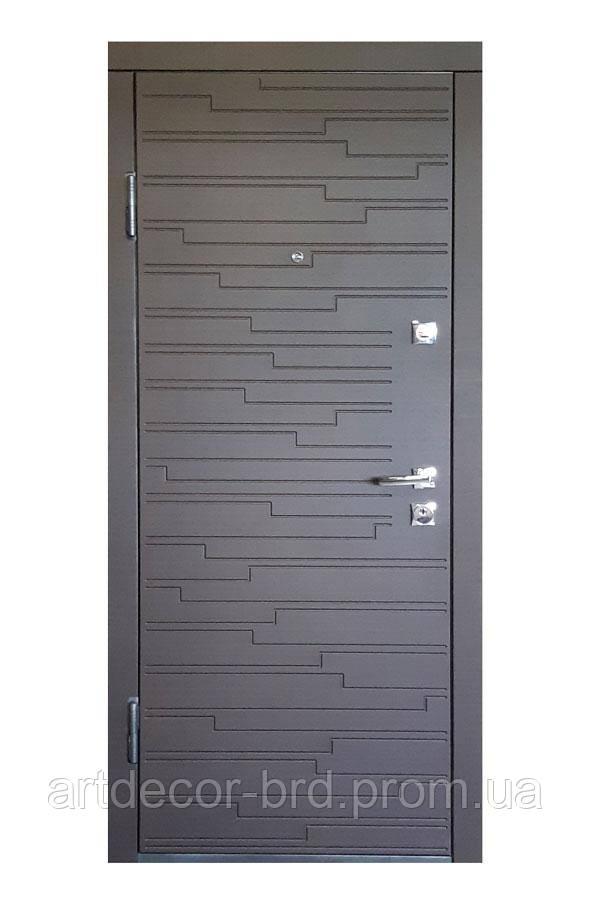 Дверь Q ПО-66 МДФ/МДФ венге горизонт темный Термопал (с ручкой Квадро) 960 L