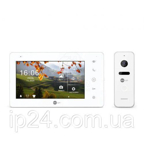 NeoKIT HD+ White (запись до 25 к/с) комплект домофона для квартиры