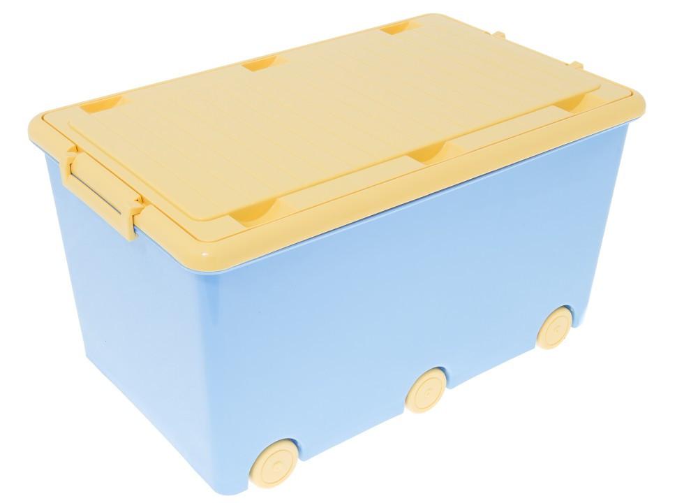 908 Ящик для іграшок Tega Chomik MIX IK-008 (синій/жовтий(blue/yellow))