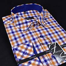 Сорочка чоловіча, приталена (Slim Fit), з довгим рукавом Fabrik Style CM00880RA 100% бавовна L(Р)