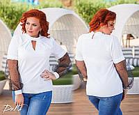 Женская нарядная блузка  ДГат41348 (бат), фото 1