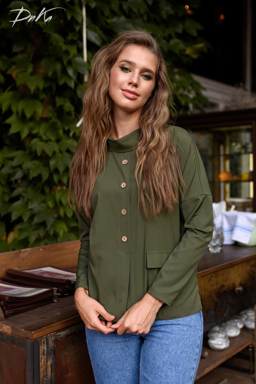 Чудная блуза с воротником